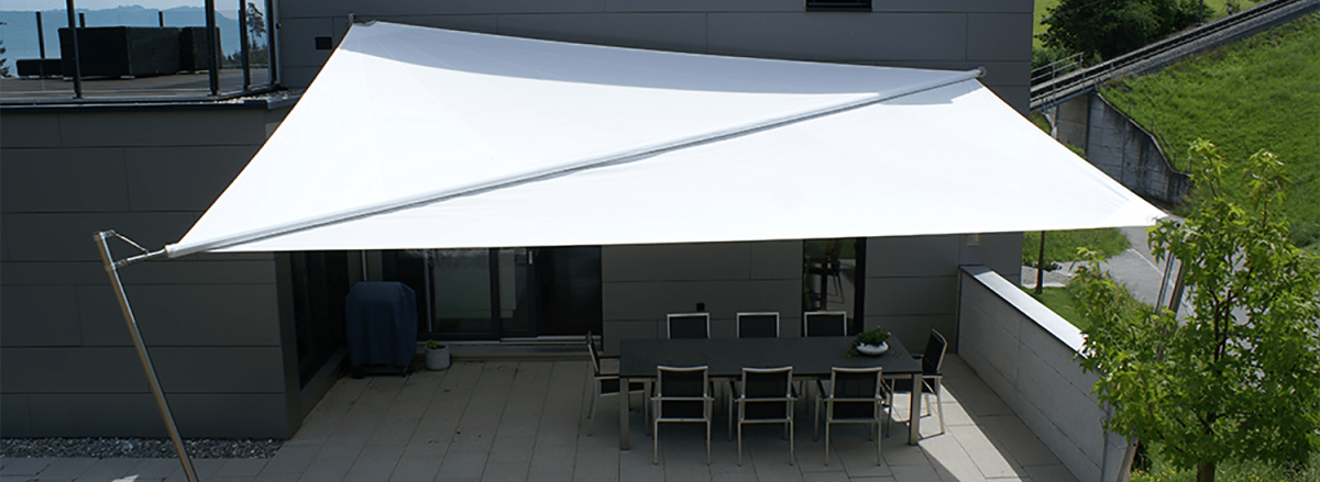 stabile Qualität Treffen kommt an Automatisch, linear und manuell aufrollbare Sonnensegel ...