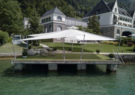 Wir bauen aufrollbare Sonnensegel für die besten Restaurants und Hotels in der ganzen Schweiz.